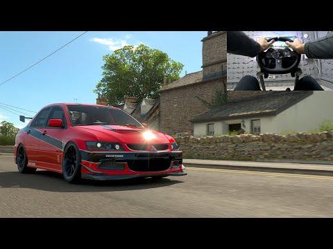 Driving The MITSUBISI LANCER EVOLUTOIN VIII MR  In Forza Horizon 4 | GoPro | Logitech G920 Gameplay