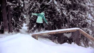 Alyona Alyokhina shreding in Avoriaz for Roxy.