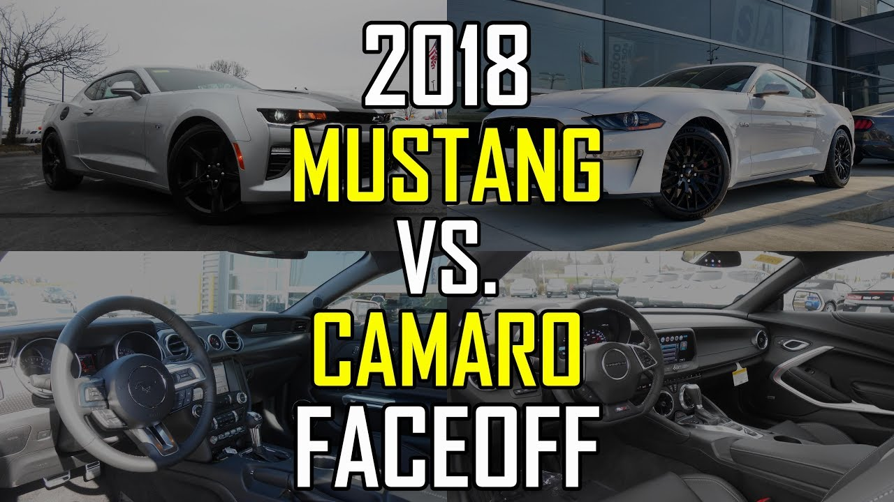 2018 ford mustang gt vs 2018 chevy camaro ss faceoff comparison