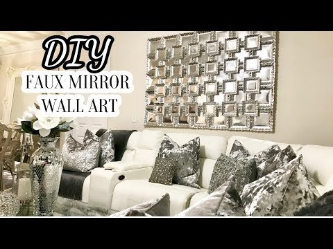 DIY Faux Mirror Wall Art | Home Decor DIY 2017