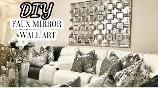 DIY Faux Mirror Wall Art | Home Decor DIY 2017