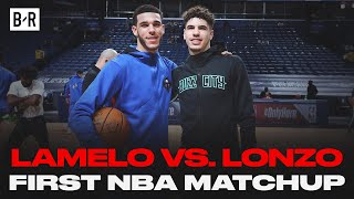 LaMelo vs. Lonzo Ball's First Matchup In NBA | Best Highlights