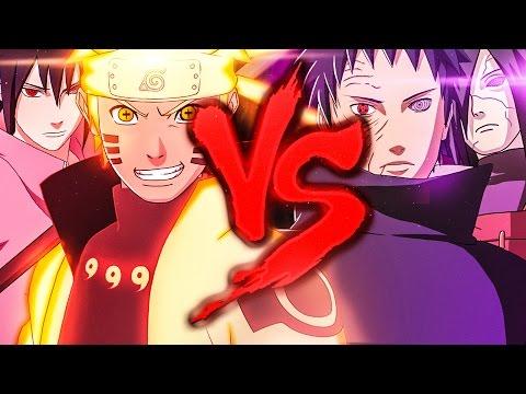Naruto e Sasuke VS. Madara e Obito | Duelo de Titãs
