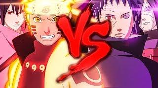 Naruto e Sasuke VS. Madara e Obito   Duelo de Titãs
