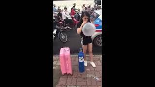 [CLip hot 2017]Girl Xinh bú Bóng cười - làm loạn Hà Nội