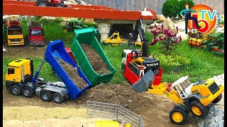 BRUDER Toys TRUCK Construction Company | KIDS Video | Action Video