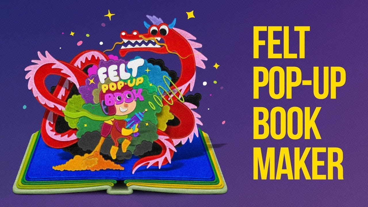 felt pop up book