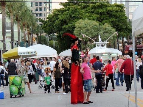 Christmas holiday on Las Olas Fort Lauderdale Florida