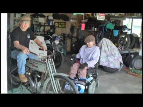 Nearly 100 Year Old Harley & Bench Racing with Indian Jeff