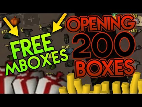 FREE MBOXES to NEW PLAYERS?! + 200 SUPER Mystery Box Opening | KonarPS RSPS