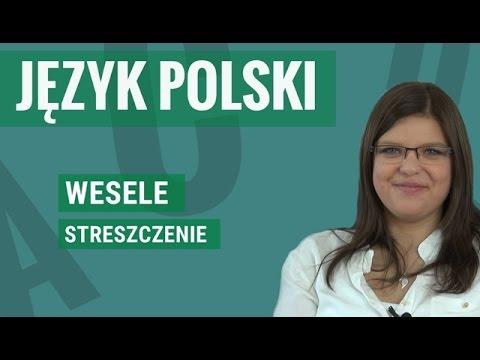 Język Polski Wesele Streszczenie Youtube