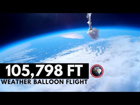 GoPro High Altitude Weather Balloon to 105,000 FT.