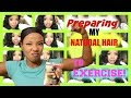 How I Prepare My Natural Hair to Exercise - Waist Length Hair Protective Style