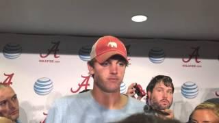 Jake Coker talks Arkansas win