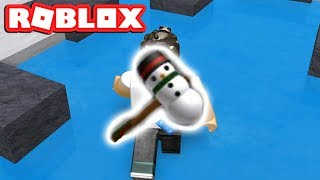 THE SNOWMAN CHRISTMAS HAMMER IN ROBLOX FLEE THE FACILITY