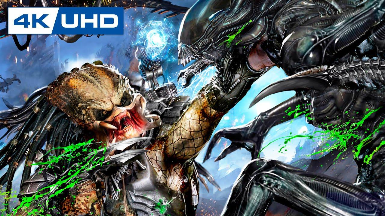 Predalien Vs Predator Scene Aliens Vs Predator Game Youtube
