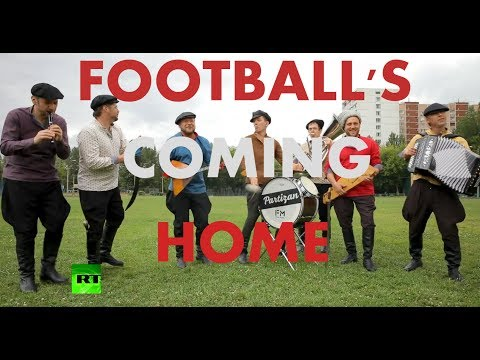 'It's Coming Home!' - Russian folk band performs famous Three Lions song