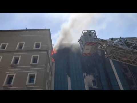 Bangunan KWSP PJ terbakar