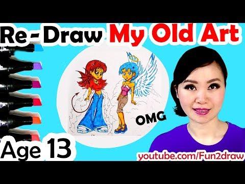 Re - Draw My Old Art | New Art vs Old Art! | Fun2Create Game