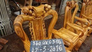 3 bộ ghế gụ chon vân, mã số GV0316, 22-3-2016, Đồ Gỗ Đức Hiền