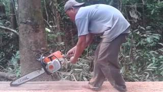 Chain Saw MS 381 Operating Part 1