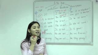 1.Elementary level. Английский язык для начинающих. To be. Грамматика английского языка.