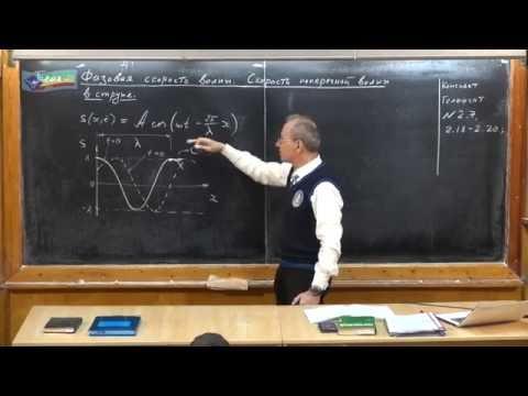 Урок 370. Фазовая скорость волны. Скорость поперечной волны в струне