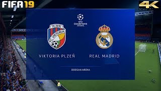 FIFA 19 (PC) Viktoria Plzen vs Real Madrid | UEFA CHAMPIONS LEAGUE PREDICTION | 7/11/2018 | 4K 60FPS
