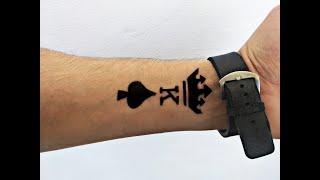 تعلم رسم وشم حلال بقلم الحبر مؤقت على حرف اسمك ضد الماء How To Make Temporary Tattoo Waterproof Youtube