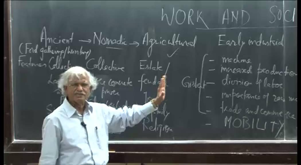 Mod-01 Lec-13 Sociology of work-III: Development and work