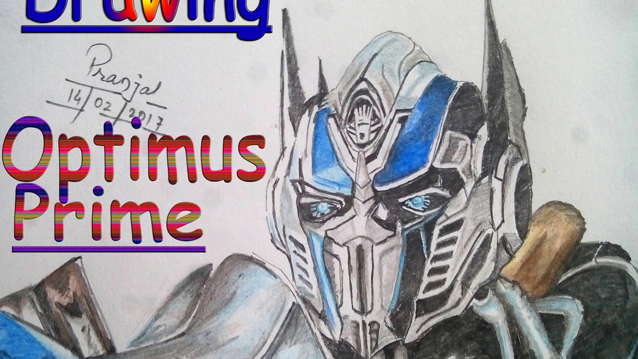 Drawing Optimus-Prime // How To Draw Optimus Prime(The