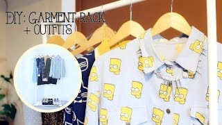 Diy: Garment Rack + Outfits
