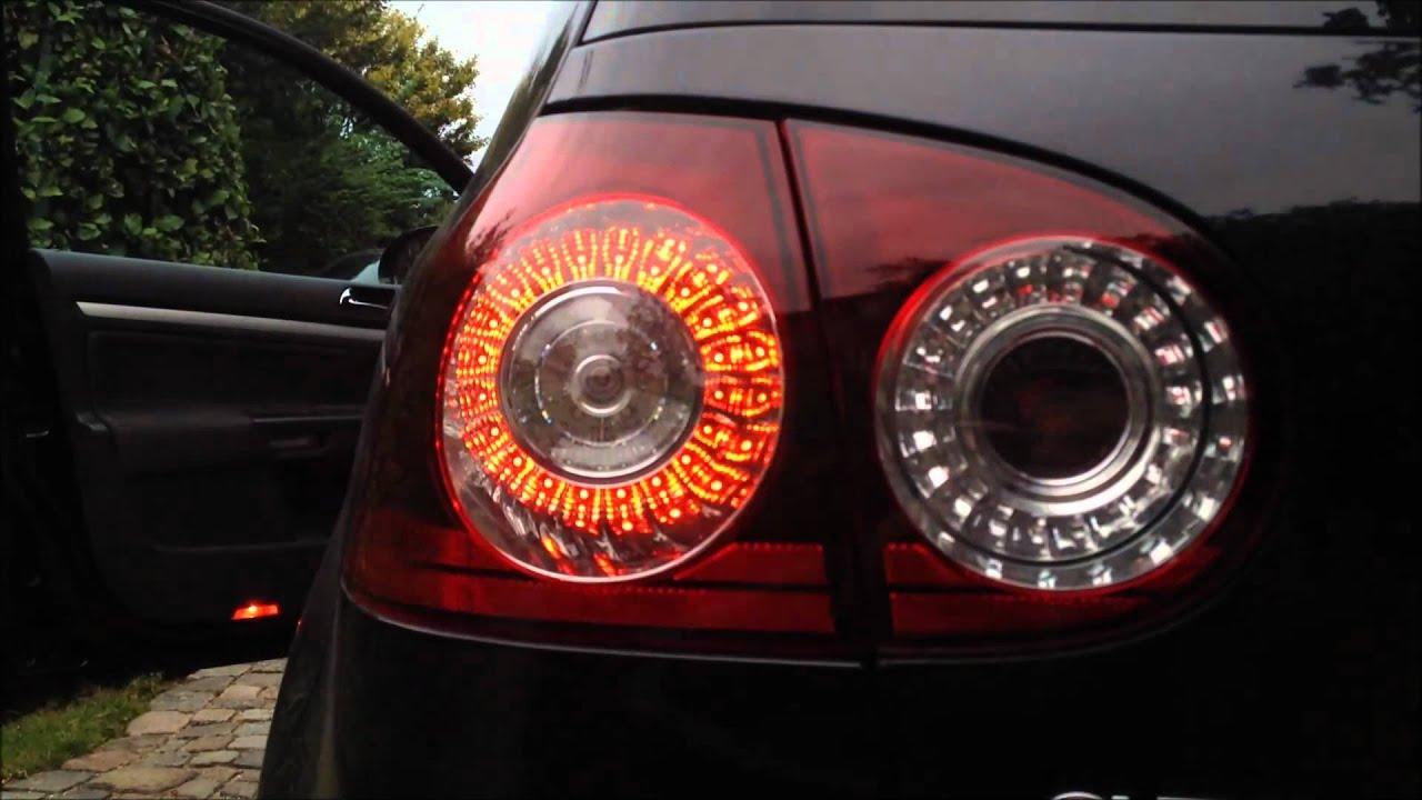 VW Golf MkV GTI OEM LED Euro Taillights