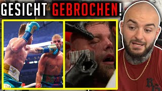 Canelo BRICHT Gegner das GESICHT! Canelo Alvarez vs. Billy Joe Saunders Reaction - RINGLIFE