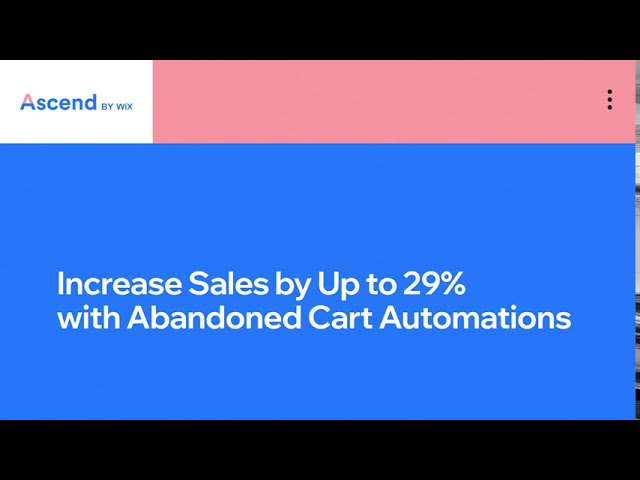 Wix.com | Abandoned Cart Automation | Drive Sales