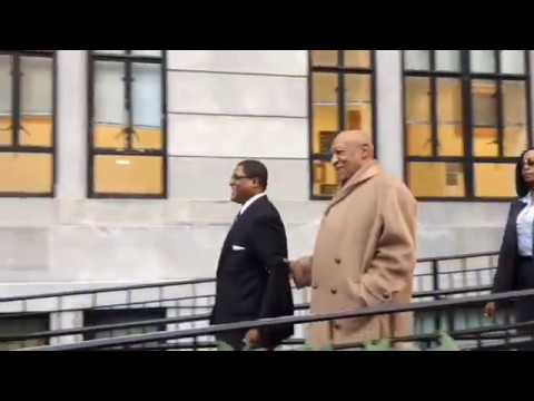 Bill Cosby leaves the courthouse after Tuesday's hearing