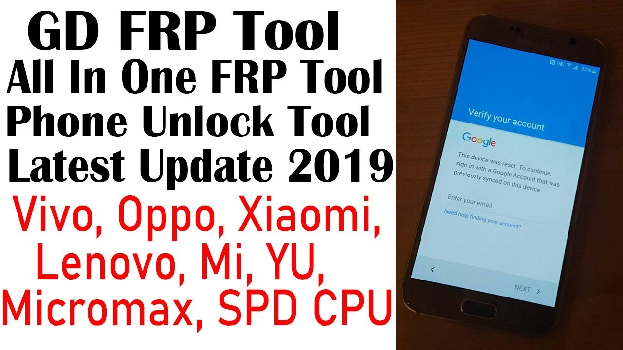 GD FRP Tool | Latest FRP Bypass Tool | Xiaomi, Vivo, Oppo, Lenovo,  Micromax, SPD CPU