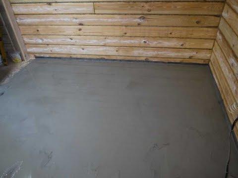 Заливка наливного пола на деревянное основание + электрический тёплый пол