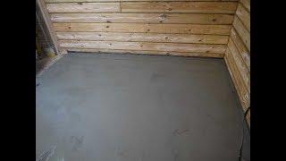как сделать стяжку на деревянный пол в ванной