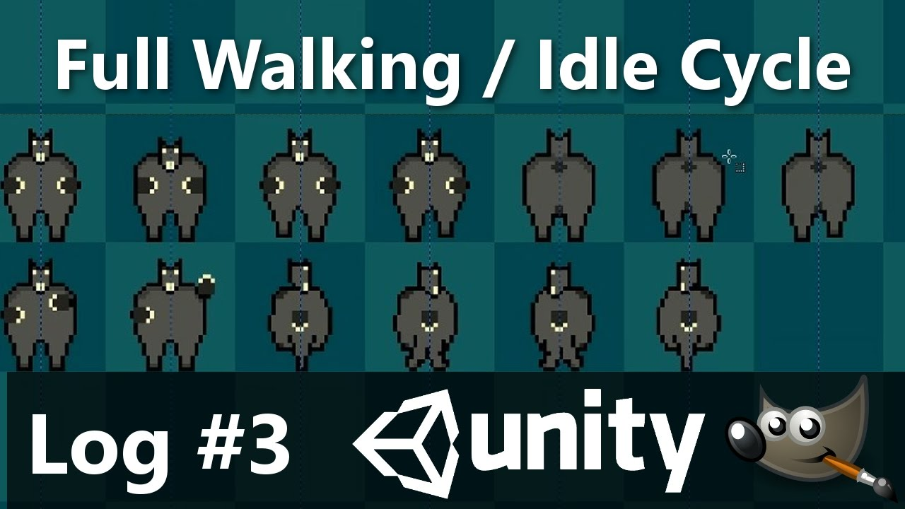 Full Walking and Idle Animation for Ghosty Goat Sprite | 2D RPG Unity 5  Game Dev Log #3