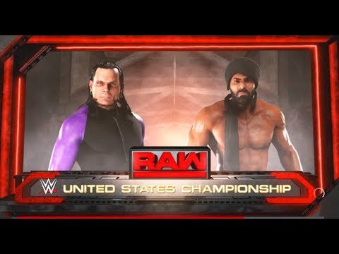 Jinder Mahal vs. Jeff Hardy - United States Championship Match: Raw-WWE-2K18- Gameplay