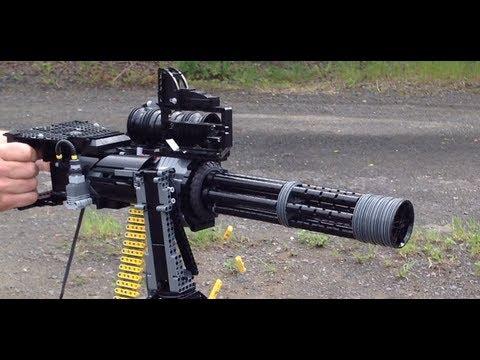 LEGO Minigun M134D Vulcan - YouTube