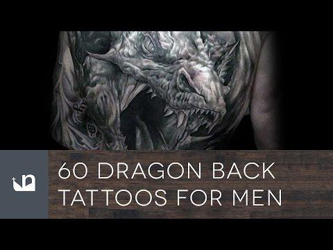 60 Dragon Back Tattoos For Men