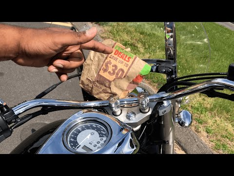 BURGER KING GRILLED CHICKEN WHOPPER ON A MOTORCYCLE