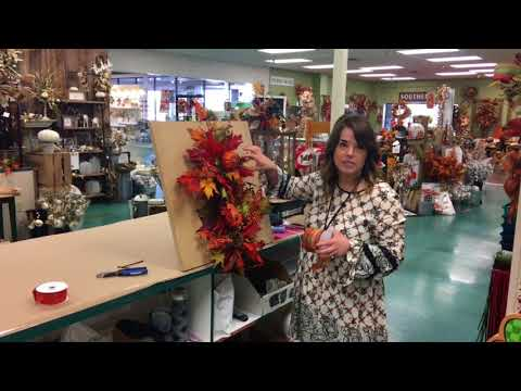 Watch Anna from Dee's make a Fall Swag/ front door decor DIY How To