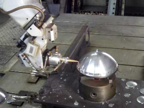 5 AXIS laser cutting an aluminum dome. - YouTube