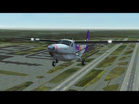 Infinite Flight Fedex Cargo Cessna 208 landing at Catalina in Dense Fog