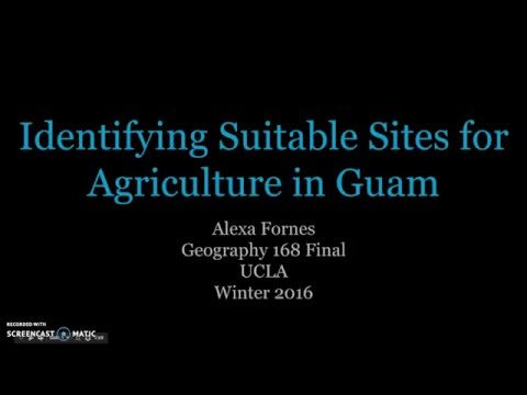 Identifying Suitable Sites for Agriculture in Guam