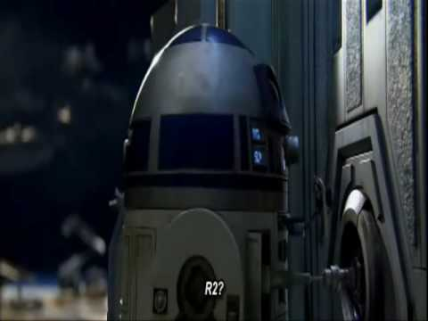 R2-D2 taking out two droids on his own