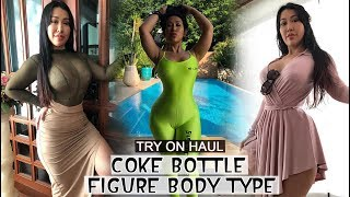 TRY ON HAUL FASHIONABLE CURVE CLOTHES - TRENDY FOR COKE BOTTLE FIGURE BODY TYPE